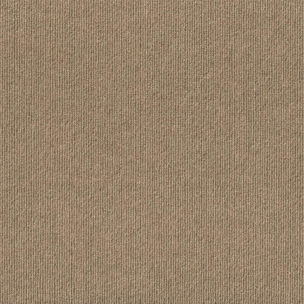 Design Smart Taupe Rib Texture 18 in. x 18 in. Indoor/Outdoor