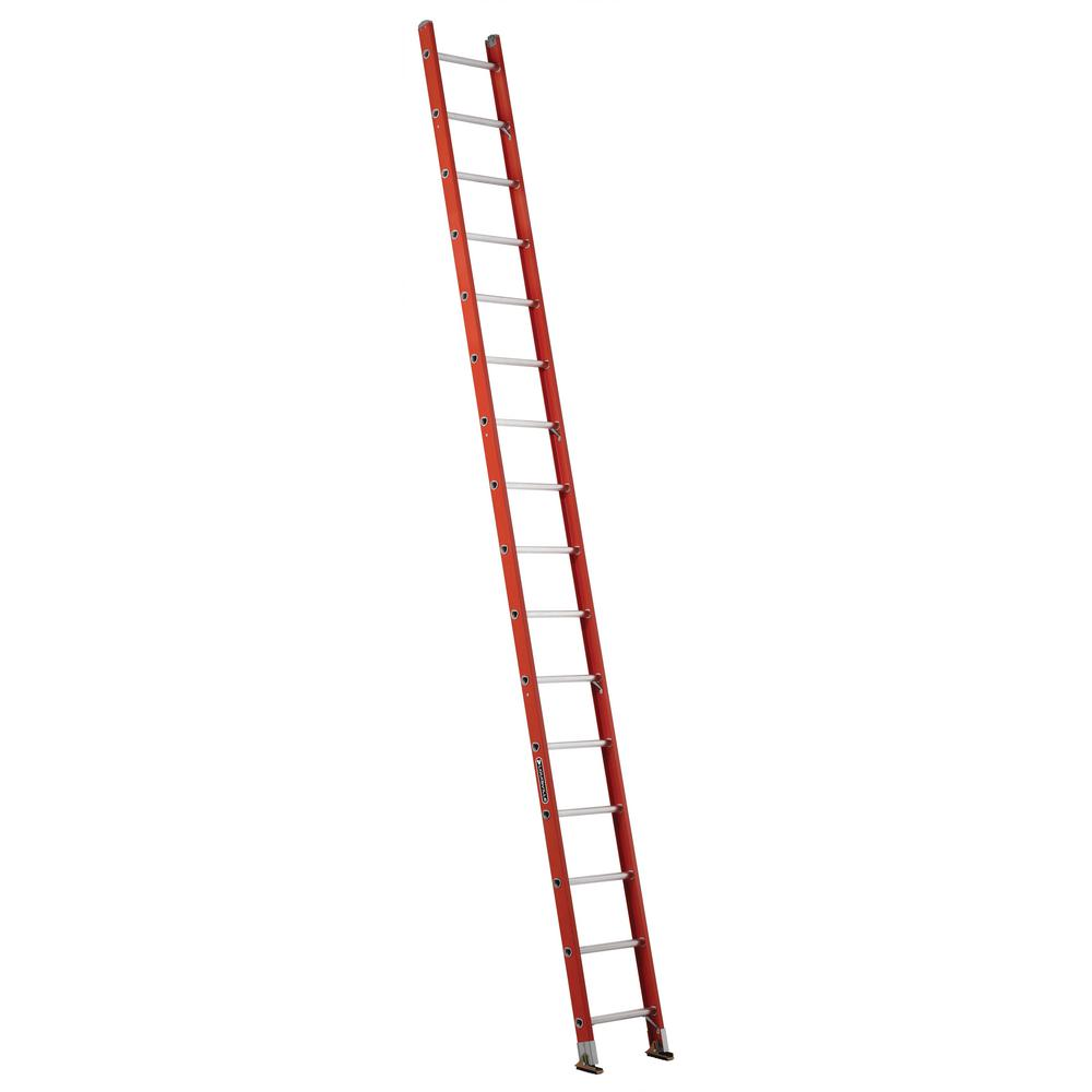 16 ft. Fiberglass Single Ladder with 300 lbs. Load Capacity Type