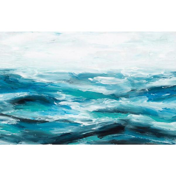 Giant Art 54 In X 84 In Oceanic I By Isabelle Z Canvas Wall Art Piez 061a9 The Home Depot