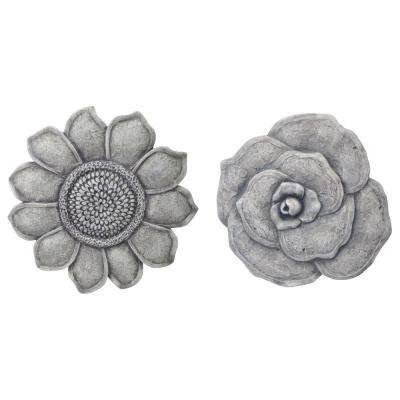 Multi-Colored Stone Flower Garden Stones (4-Pack)