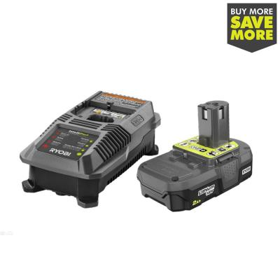 18-Volt ONE+ Lithium-Ion 2.0 Ah Battery and Dual Chemistry IntelliPort Charger Kit