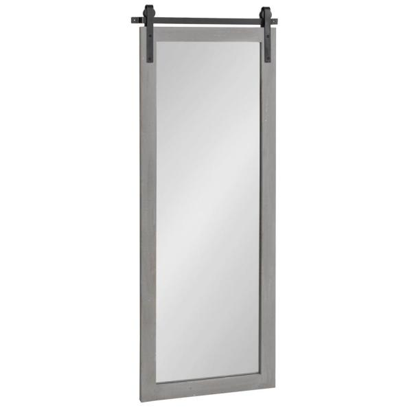 Cates 48 in. x 18 in. Classic Rectangle Framed Gray Wall Mirror