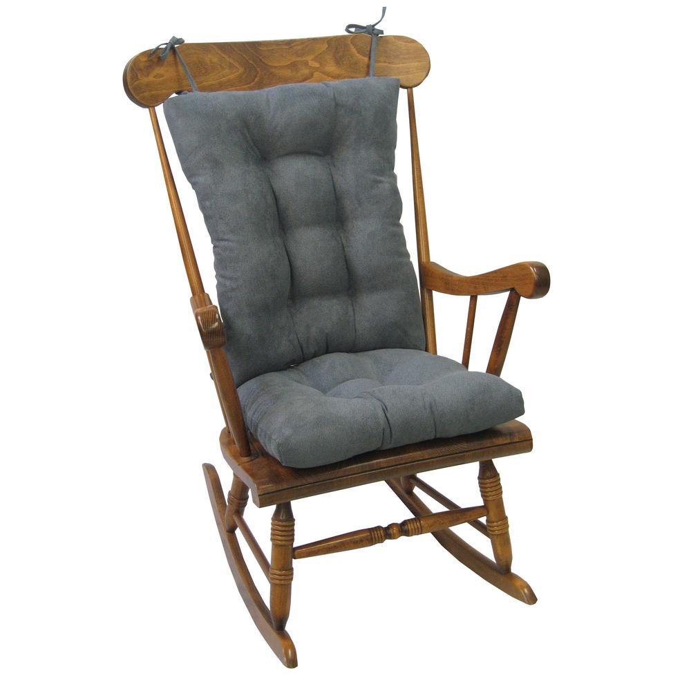 Gripper Twillo Bluestone Jumbo Rocking Chair Cushion Set