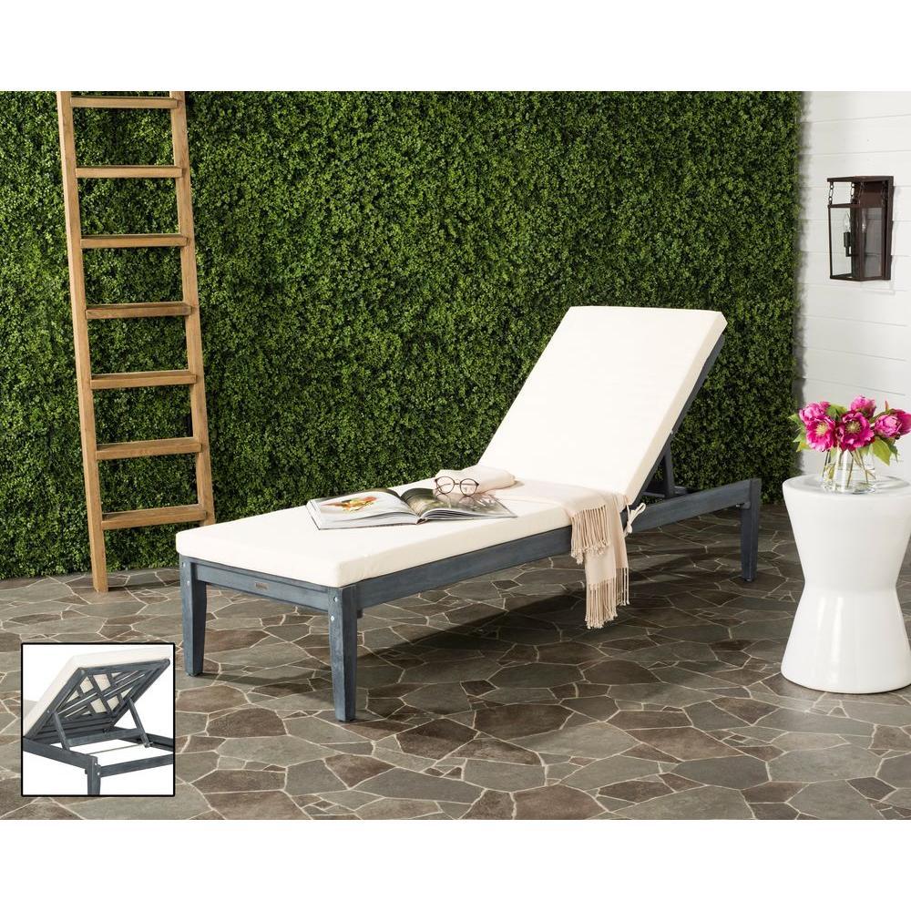 Safavieh Azusa Ash Grey Outdoor Patio Lounge Chair With