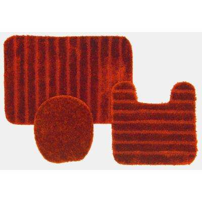 Veranda Bath Rug Rust Set