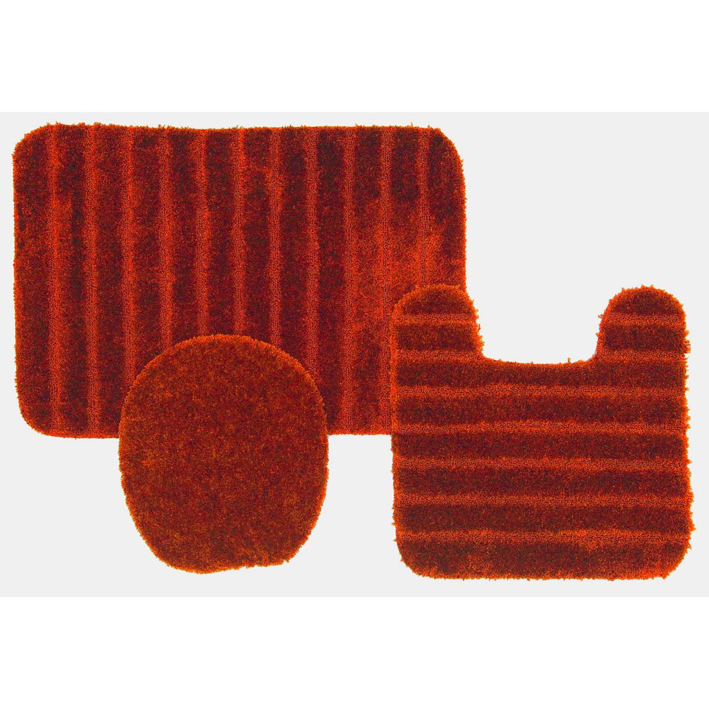 Mohawk Home Veranda Bath Rug Rust Set 352584 The Home Depot
