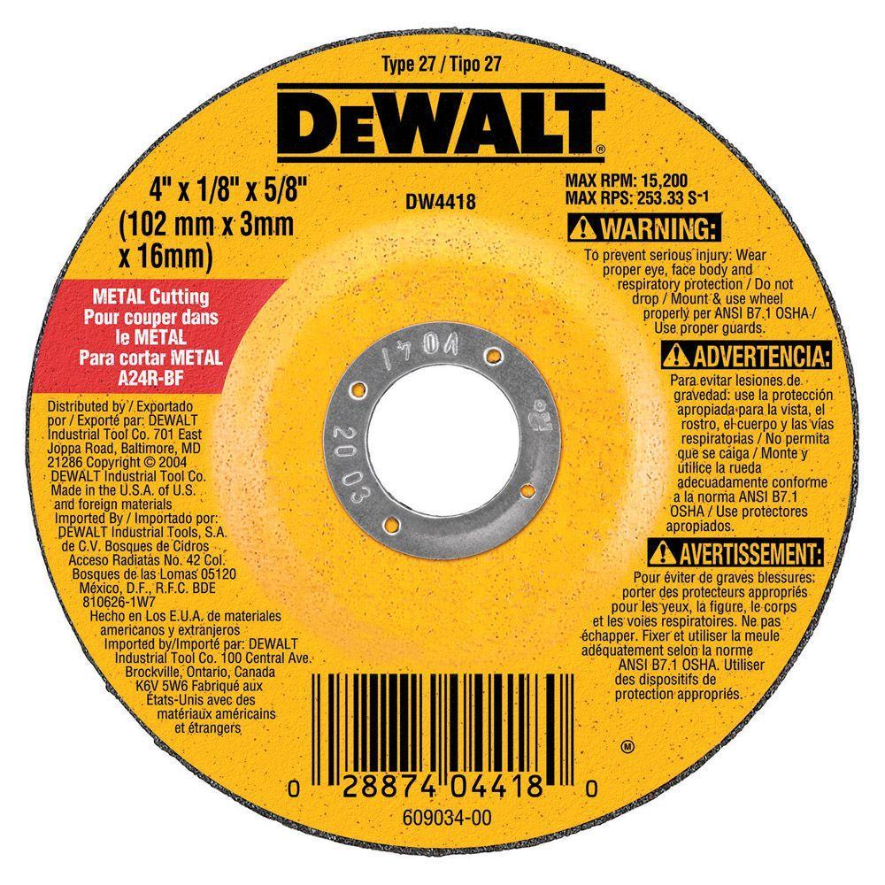 "4-1//2/"" x .045/"" x 7//8/"" Depressed Center Cut-Off Wheel T27 Cutting Discs 25 Pack"