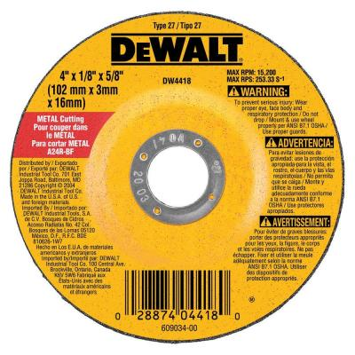 4 in. x 1/8 in. x 5/8 in. General Purpose Metal Cutting Wheel