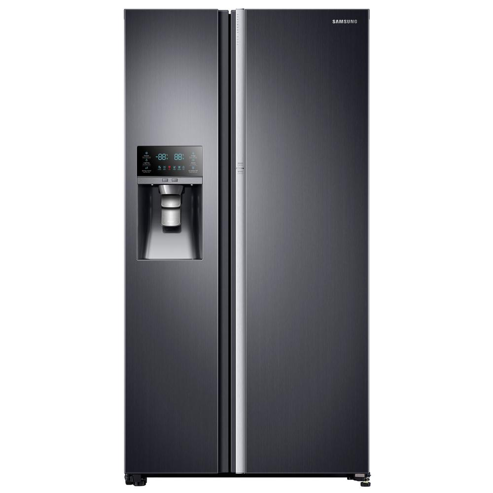 21.5 cu. ft. Side by Side Refrigerator in Black Stainless Steel,