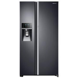 Click here to buy Samsung 21.5 cu. ft. Side by Side Refrigerator in Black Stainless Steel, Counter Depth Food Showcase Design by Samsung.
