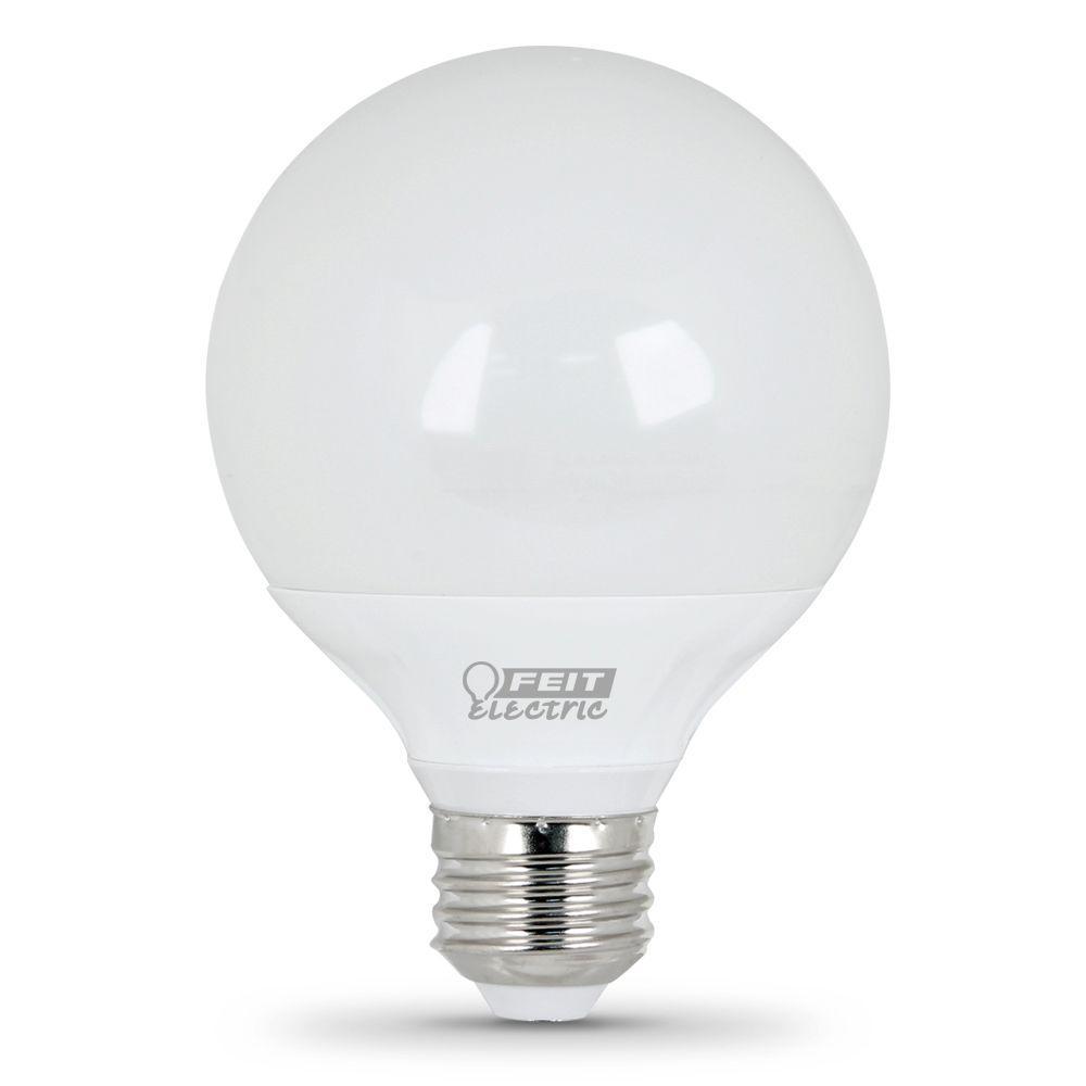 Feit Electric 25W Equivalent Soft White (3000K) G25 LED Light Bulbs (12-Pack)