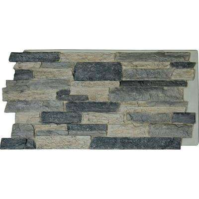 48 in. x 24 in. Acadia Ledge Stacked Stone, StoneWall Faux Stone Siding Panel