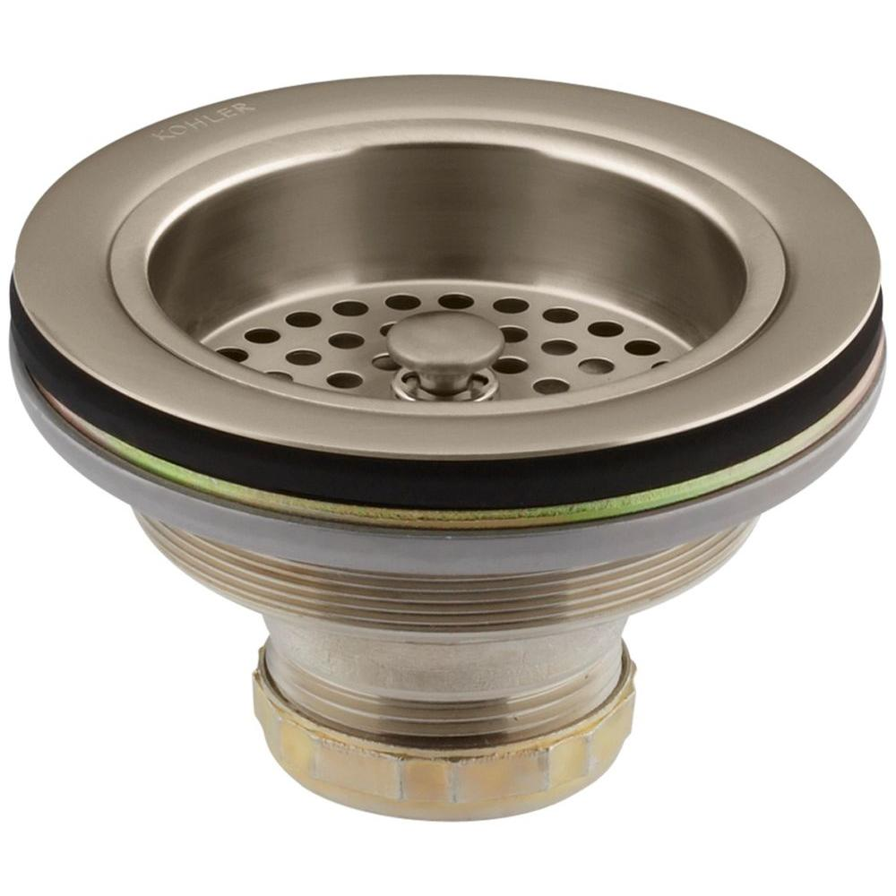 Duostrainer 4-1/2 in. Sink Strainer in Vibrant Brushed Bronze