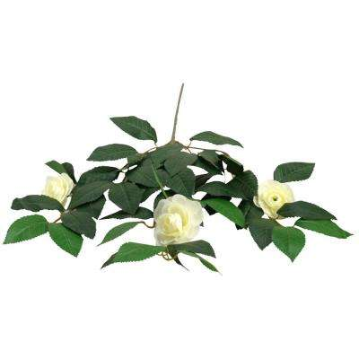 Indoor Cream Camellia Spray (Set of 3)