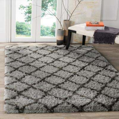 Indie Shag Gray/Dark Gray 8 ft. x 10 ft. Area Rug