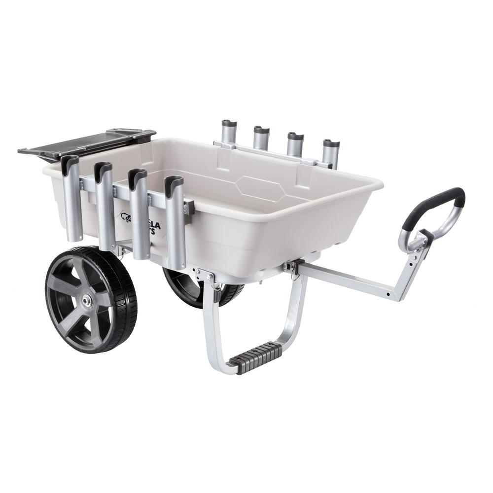 Gorilla Carts 5 cu. ft. Poly Outdoor Fish and Marine Cart