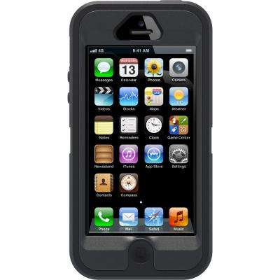 Defender Cell Phone Case for iPhone 5 - Black