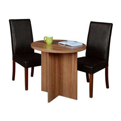 Mod 30 in. Warm Cherry Round Table