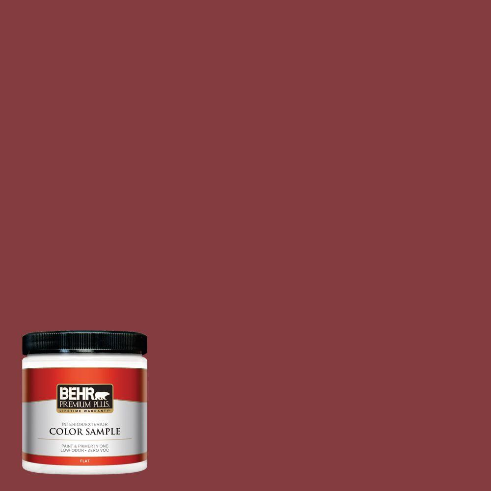 M140 7 Dark Crimson Flat Interior Exterior Paint And Primer In One Sample