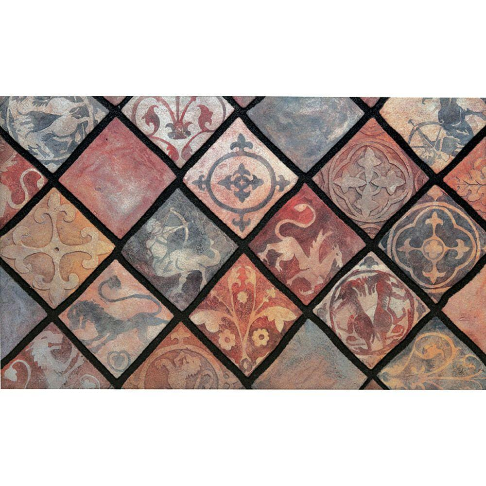 Apache Mills Spanish Tiles 18 In X 30 Recycled Rubber Mat