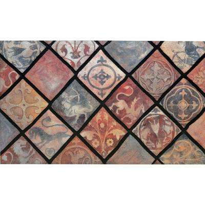 Spanish Tiles 18 in. x 30 in. Recycled Rubber Mat