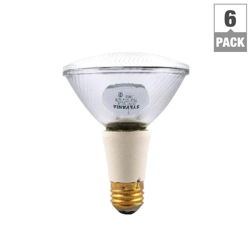 sylvania 60 watt halogen par30ln flood light bulb 6 pack 16173 0 the home depot. Black Bedroom Furniture Sets. Home Design Ideas