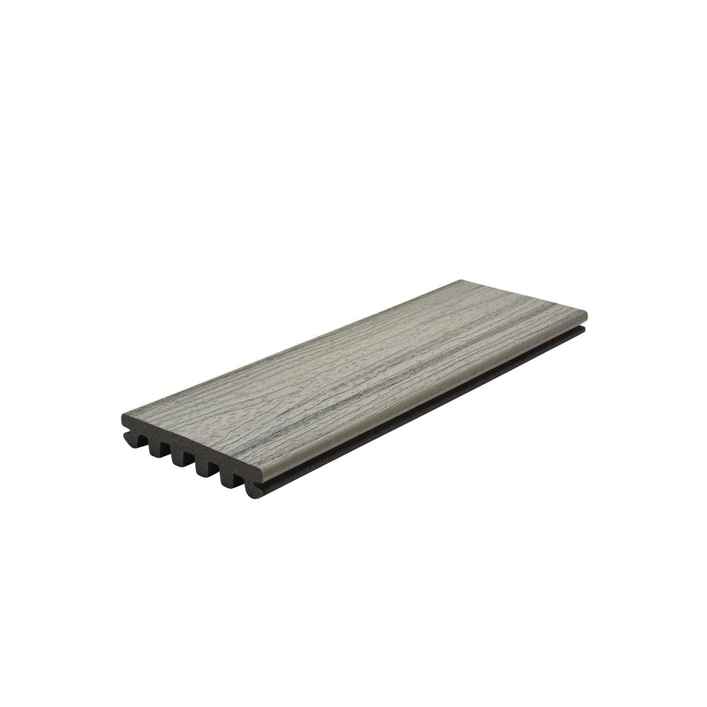 Trex Enhance 1 in. x 5.5 in. x 1 ft. Foggy Wharf Composite Decking Board Sample (Model # FWE92000 )