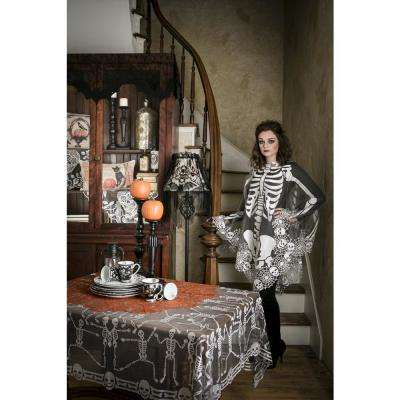 Halloween Gala 60 in. L Polyester Valance in Black