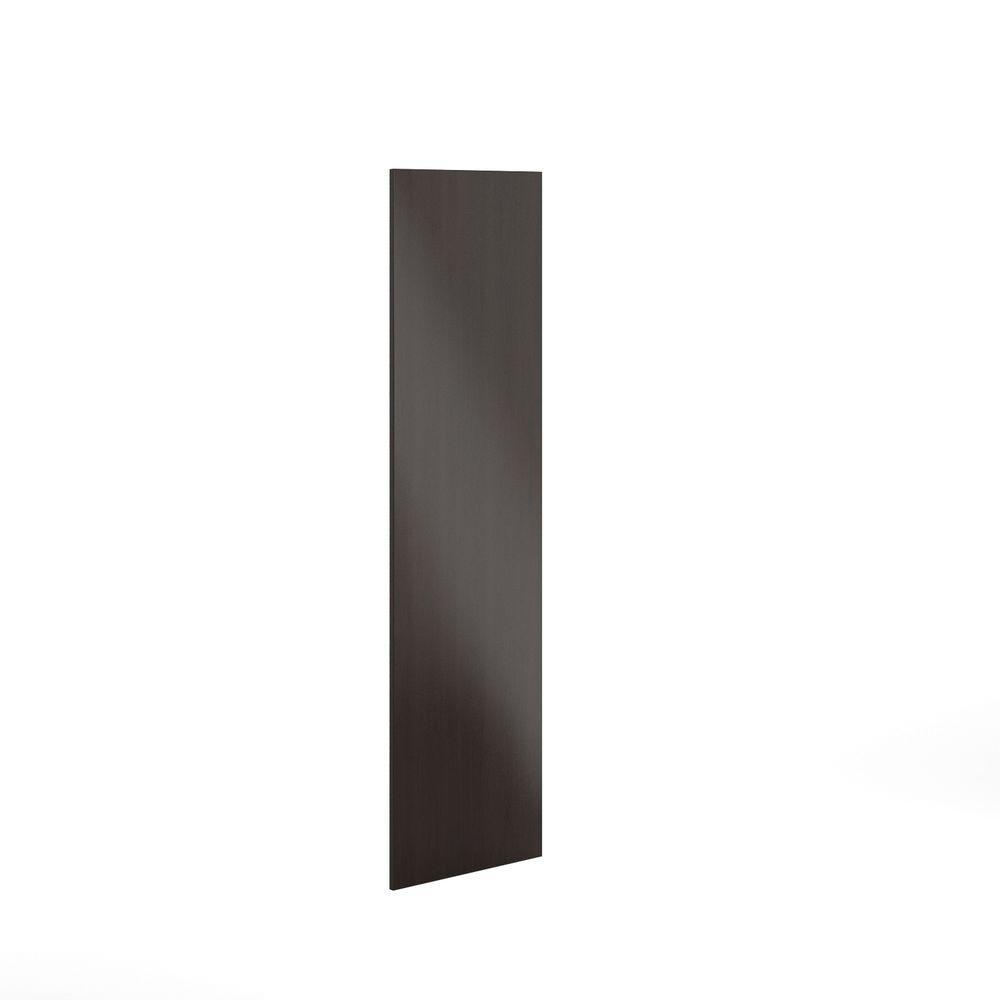 Eurostyle 24x80x0.75 in. Finishing End Panel in Dark Brown Veneer