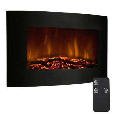 35 in. XL Large 1500W Adjustable Electric Wall Mount Fireplace Heater W/Remote New