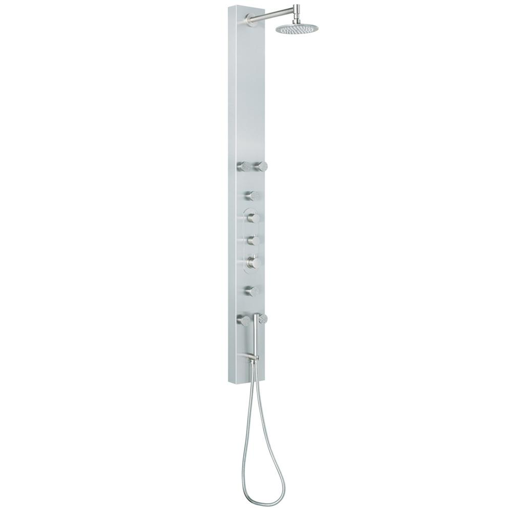VIGO 6 Jet Shower Panel System in Stainless Steel VG08001   The Home Depot. VIGO 6 Jet Shower Panel System in Stainless Steel VG08001   The
