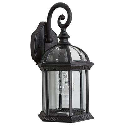 Presbury 1-Light Black Outdoor Wall Lantern