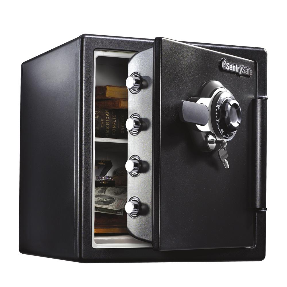 SentrySafe SFW123DTB 1.23 cu. ft. Fireproof Safe and Waterproof Safe with Dial Combination