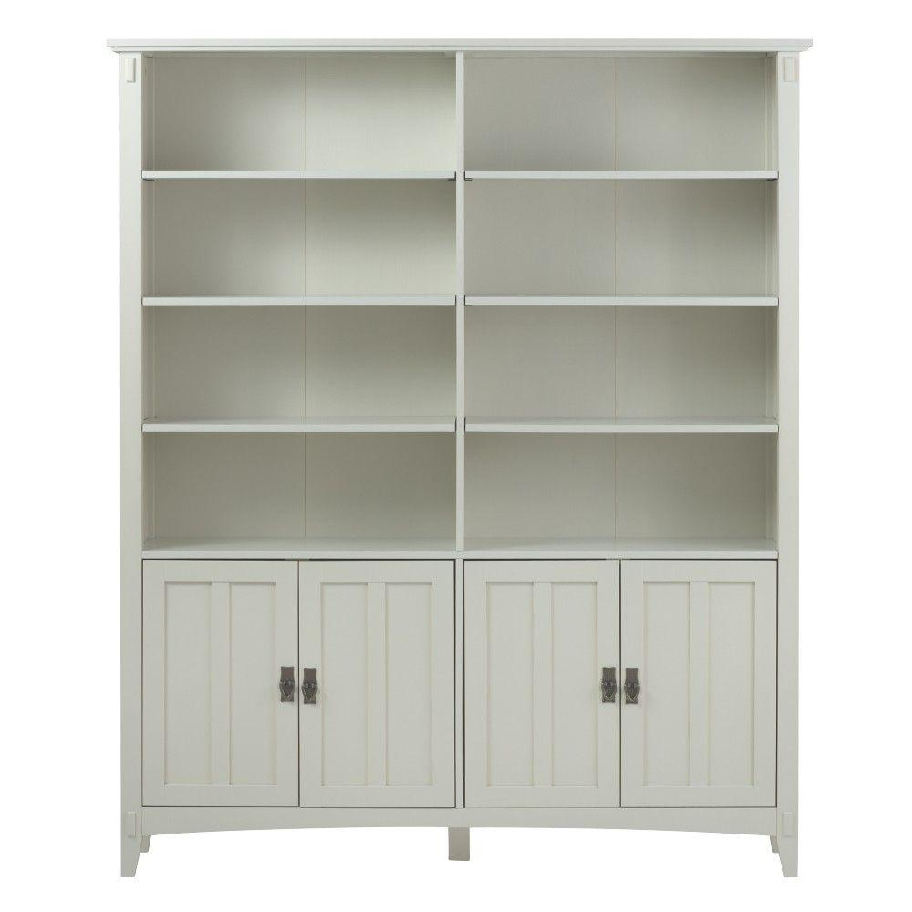 Home Decorators Collection Artisan White Storage Open Bookcase 9224400410 The Home Depot