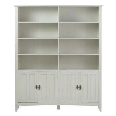 Artisan White Storage Open Bookcase - Bookcases - Home Office Furniture - The Home Depot