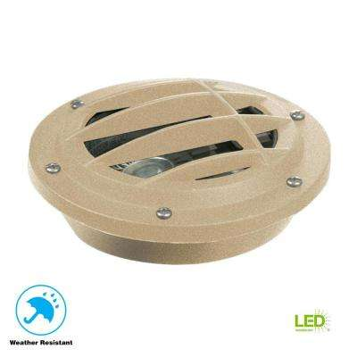 Low-Voltage 4.5-Watt Sand Outdoor Integrated LED Landscape Well Light
