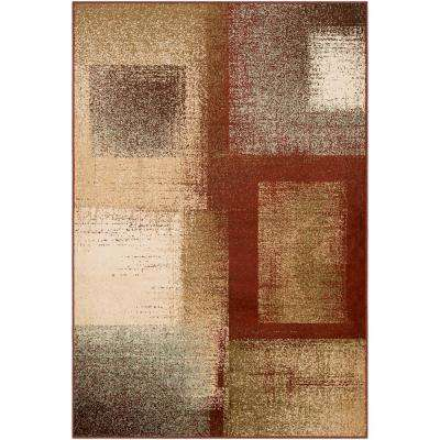 Sora Dark Red 8 ft. 10 in. x 12 ft. 9 in. Geometric Area Rug