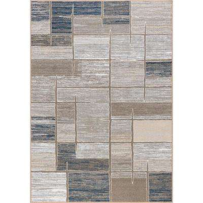 Majesty Taupe 8 ft. x 10 ft. Contemporary Area Rug