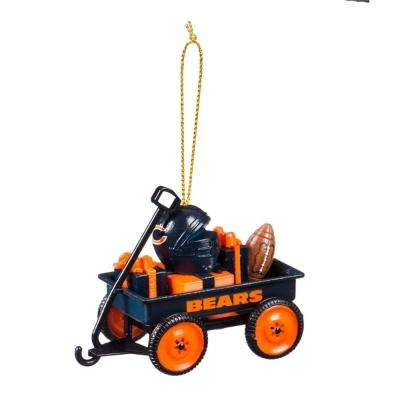 Chicago Bears 1-3/4 in. NFL Team Wagon Christmas Ornament