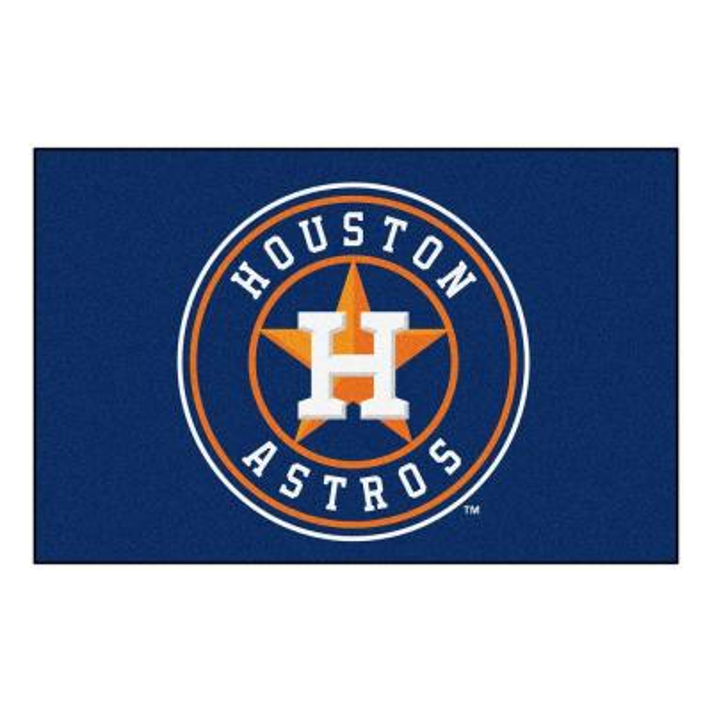 MLB Houston Astros 1 ft. 7 in. x 2 ft. 6in. Starter Mat Area Rug