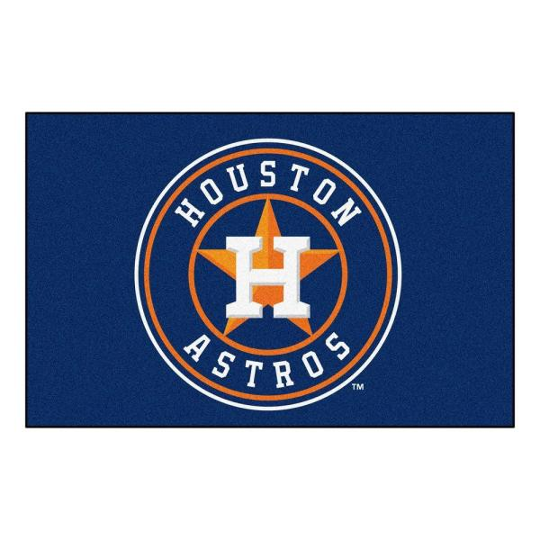 MLB Houston Astros 1 ft. 7 in. x 2 ft. 6in. Starter Mat Area Rug