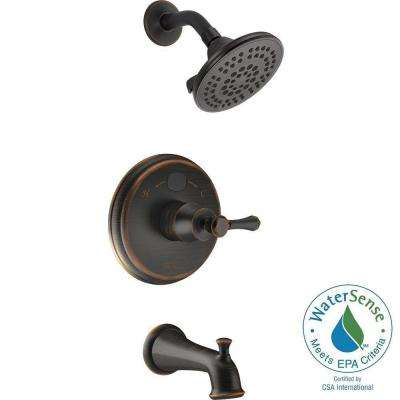 Temp2O LED Digital Temperature Display Single-Handle 5-Spray Tub and Shower Faucet in Venetian Bronze (Valve Included)