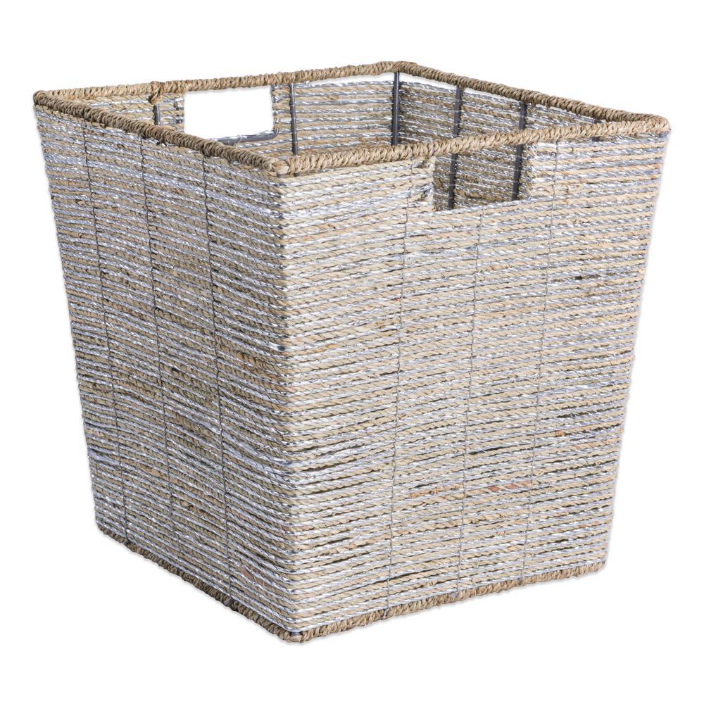 Trapezoidal Woven Seagrass Decorative Bin