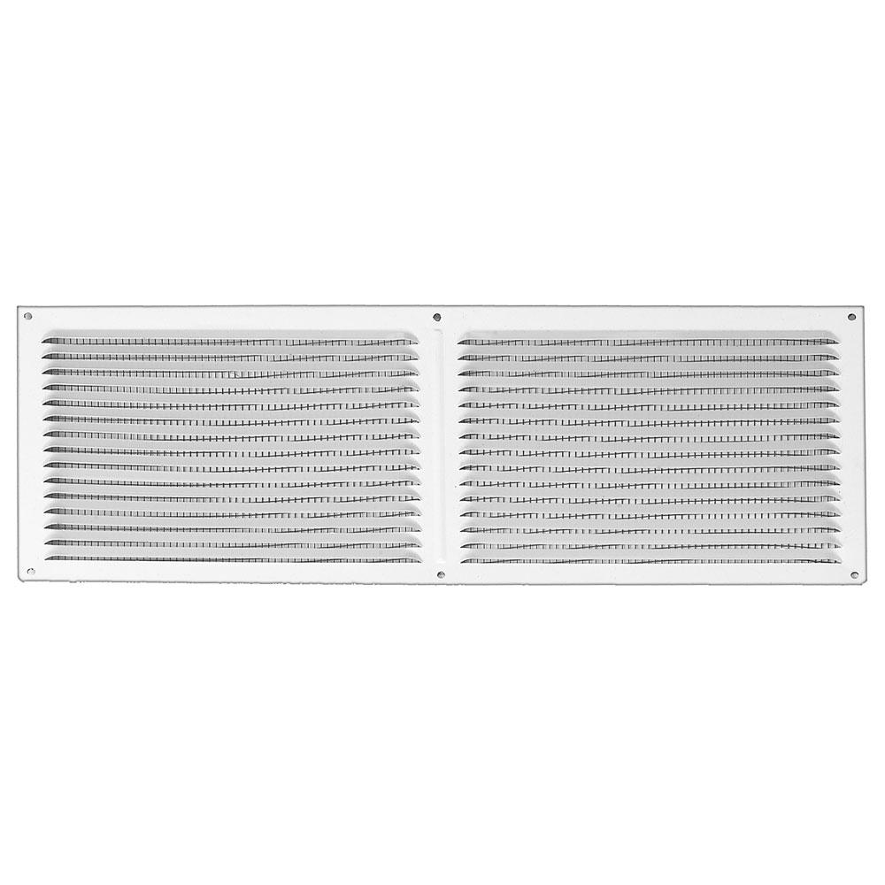 16 in. x 6 in. Aluminum Louvered Soffit Vent in White