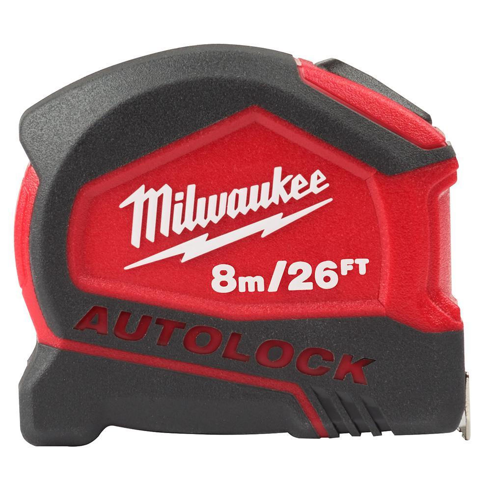 26 ft. Compact Metric Auto Lock Tape Measure
