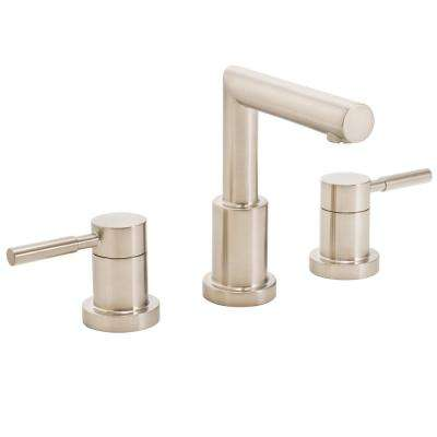 Neo 8 in. Widespread 2-Handle Bathroom Faucet in Brushed Nickel
