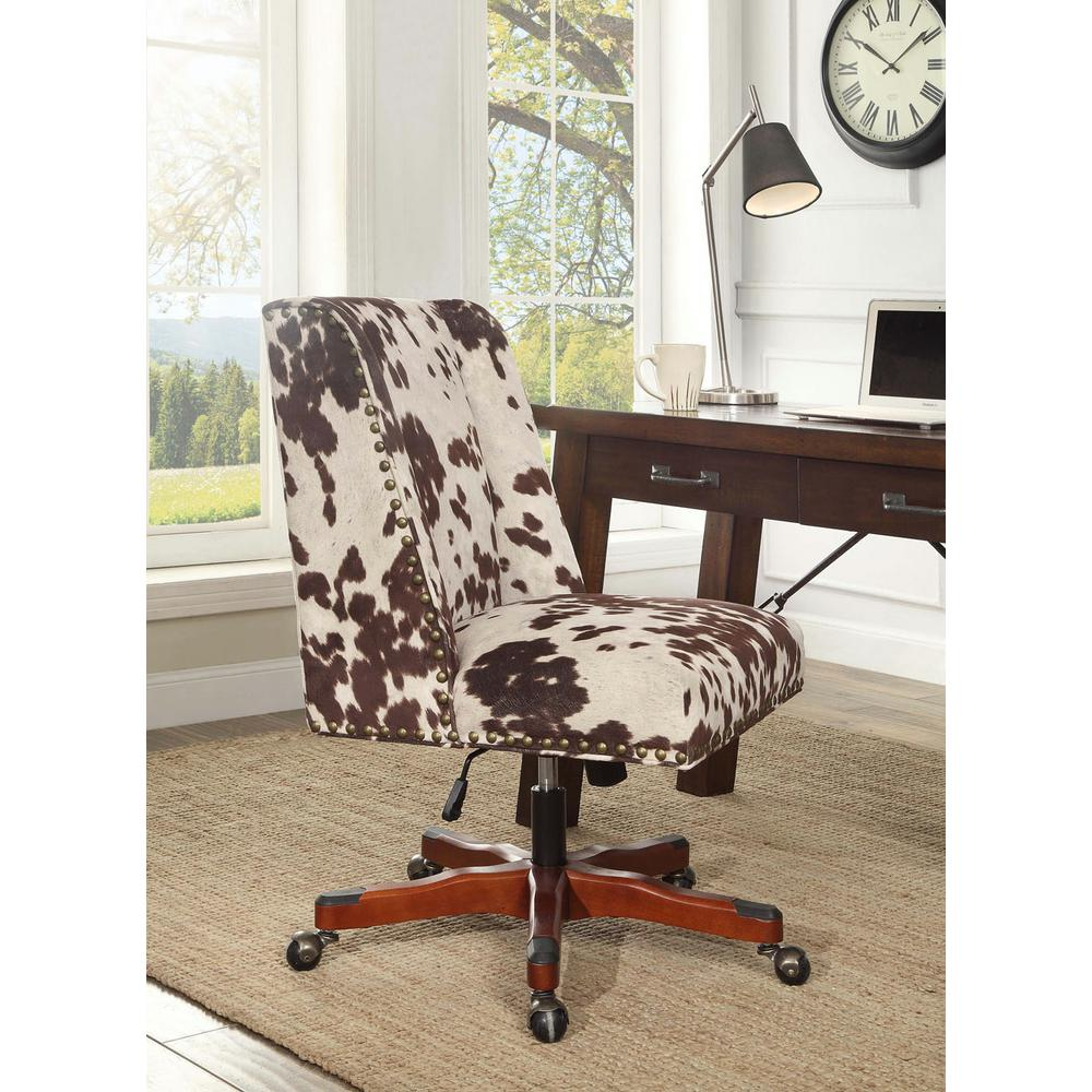Linon Home Decor Dr Udder Madness Microfiber Office Chair