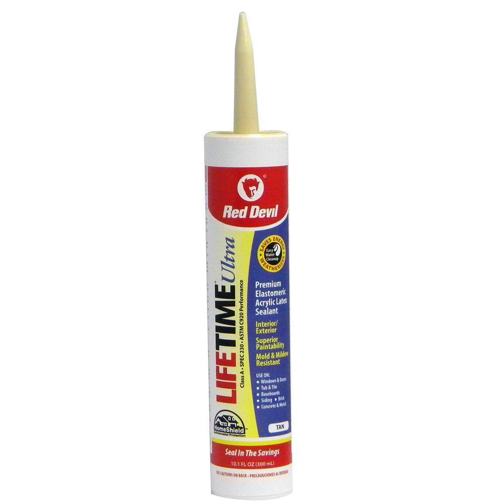 Lifetime Ultra 10.1 oz. Cedar Tan Acrylic Latex Caulk