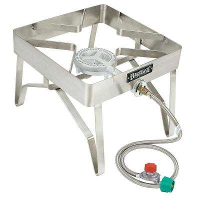 13.25 in. Tall Stainless Steel Single Burner Outdoor Patio Stove