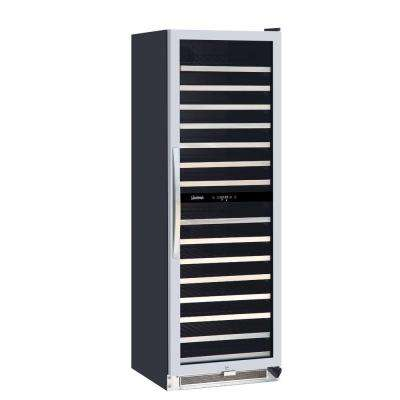 Connoisseur Series 155-Bottle Dual-Zone Wine Cooler
